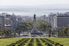 Parque Eduardo VII parkerar Lissabon Portugal Arkivfoto