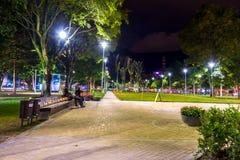 Parque 93 em Bogotá, Colômbia, um popular e Imagem de Stock Royalty Free