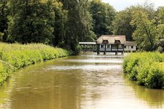 Parque em Brasschaat, Bélgica imagem de stock