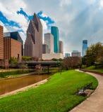 Parque em Houston Texas do centro fotografia de stock
