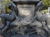 Parque em Kenmore Square, Boston, Massachusetts, EUA fotos de stock royalty free