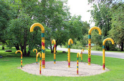 Parque em Sigulda, Latvia foto de stock royalty free