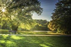 Parque en Blaarmeersen Bélgica fotos de archivo