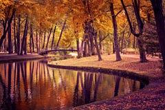 Parque en caída imagenes de archivo