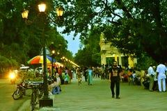 Parque en Chandannagar la India Fotografía de archivo
