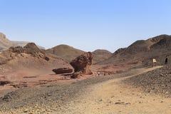 Parque en el desierto de Arava, Israel de Timna foto de archivo