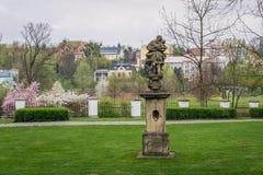 Parque en Frydek Mistek Foto de archivo libre de regalías