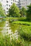 Parque en Hamburgo imagenes de archivo