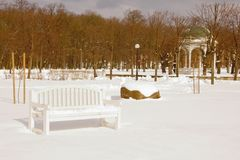 Parque en invierno Imagenes de archivo