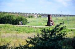 Parque en la ciudad de Coruna imagenes de archivo