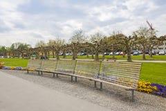 Parque en la ciudad de Kreuzlingen, Suiza imagenes de archivo