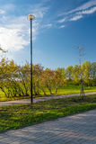 Parque en la ciudad de St Petersburg Imagenes de archivo