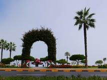 Parque en la costa costa de Miraflores, Lima Foto de archivo libre de regalías
