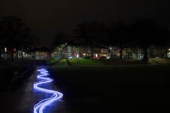 Parque en la noche Fotografía de archivo libre de regalías