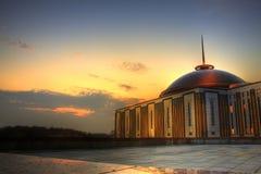 Parque en la puesta del sol, Moscú de la victoria Imágenes de archivo libres de regalías