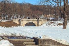 Parque en las afueras de St Petersburg en un día soleado del invierno imágenes de archivo libres de regalías