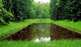 Parque en Oranienbaum, St Petersburg Imágenes de archivo libres de regalías