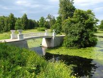 Parque en Pavlovsk Rusia Fotografía de archivo libre de regalías