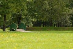 Parque en resorte Imágenes de archivo libres de regalías