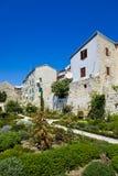 Parque en Sibenik en Croatia Fotografía de archivo