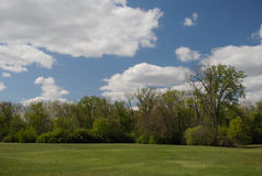Parque en un día soleado Fotos de archivo