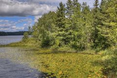 Parque estadual da praia de McCarthy em Minnesota do norte imagens de stock