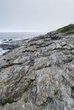 Parque estadual de duas luzes em Maine Coast fotografia de stock