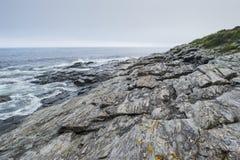 Parque estadual de duas luzes em Maine Coast imagens de stock royalty free
