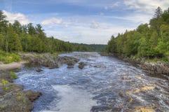 Parque estadual de Tettegouche na costa norte do Lago Superior no MI imagem de stock