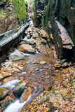 Parque estadual do entalhe de Franconia, New Hampshire, EUA imagens de stock royalty free