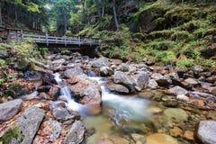 Parque estadual do entalhe de Franconia, New Hampshire, EUA foto de stock