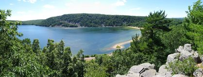 Parque estadual do lago devils imagem de stock royalty free