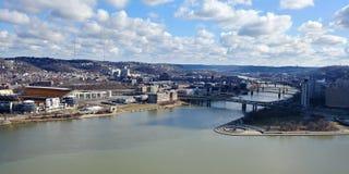 Parque estadual do ponto de Mt Washington Allegheny River Pgh Pa foto de stock