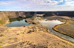 Parque estadual Lago-seco das quedas de Sun imagem de stock
