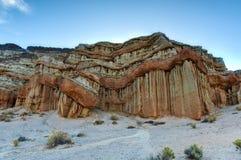 Parque estadual vermelho da garganta da rocha, Califórnia Imagens de Stock