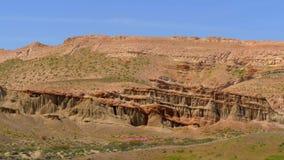 Parque estadual vermelho da garganta da rocha em Califórnia filme