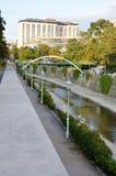 Parque famoso en la ciudad de Viena fotos de archivo libres de regalías