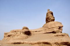 Parque Geological de Yadan, Dunhuang, China Imagens de Stock