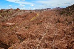 Parque Geological de Zhangye Danxia Foto de Stock Royalty Free