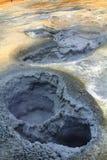 Parque geot?rmico de Hverir cerca del lago Myvatn, Islandia imagen de archivo libre de regalías