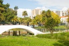 Parque grandioso de Campo, Lisboa, Portugal Imagem de Stock Royalty Free