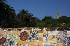 Parque Guell Foto de archivo libre de regalías
