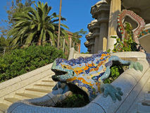 Parque Guell Foto de Stock Royalty Free