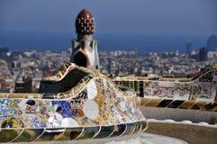 Parque Guell Barcelona Foto de Stock Royalty Free