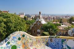 Parque Guell, Barcelona fotografía de archivo libre de regalías