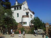 Parque Guell Barcelona Imagen de archivo libre de regalías