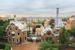 Parque Guell, Barcelona, España Imagen de archivo