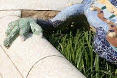 Parque Guell (Barcelona España) del lagarto foto de archivo libre de regalías