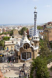 Parque Guell Barcelona, Espanha Fotografia de Stock Royalty Free
