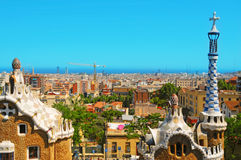 Parque Guell, Barcelona, Spain Imagem de Stock Royalty Free
